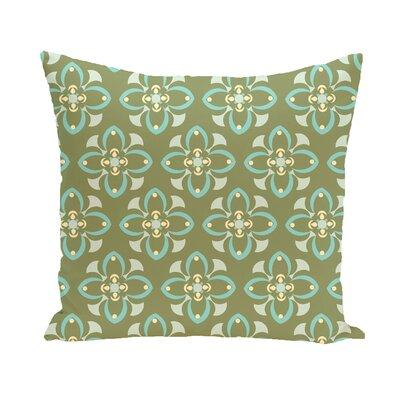Trumpet Flower Geometric Print Outdoor Pillow Size: 20