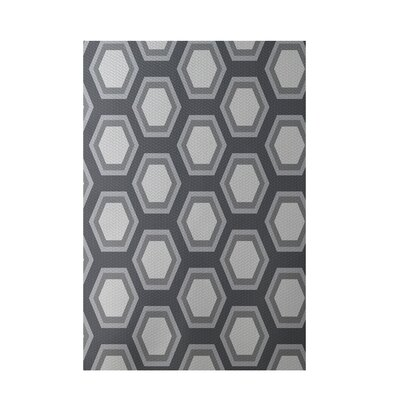 Geometric Dark Gray Indoor/Outdoor Area Rug Rug Size: Rectangle 2 x 3