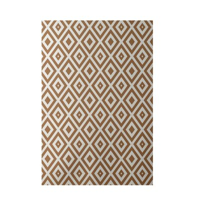 Geometric Brown/Ivory Indoor/Outdoor Area Rug Rug Size: 2 x 3