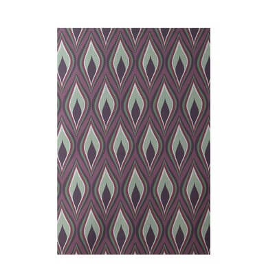 Purple Indoor/Outdoor Area Rug Rug Size: Rectangle 2 x 3