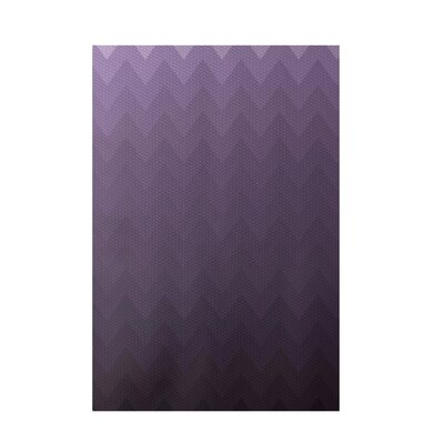 Chevron Purple Indoor/Outdoor Area Rug Rug Size: 1 x 4