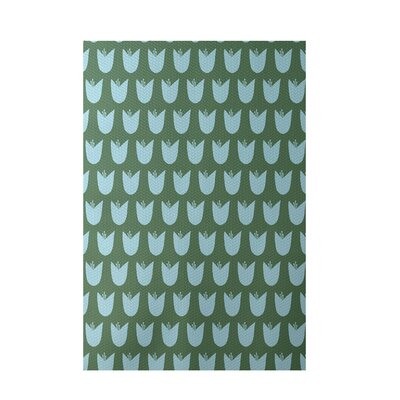 Floral Green Indoor/Outdoor Area Rug Rug Size: Rectangle 3' x 5'