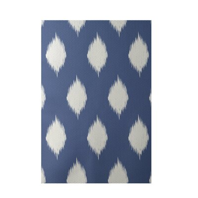 Geometric Blue Indoor/Outdoor Area Rug Rug Size: 5 x 7