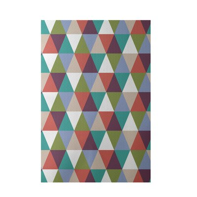 Geometric Green Indoor/Outdoor Area Rug Rug Size: Rectangle 3 x 5