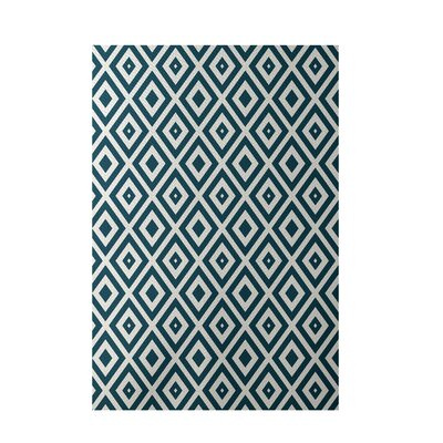 Geometric Ivory Indoor/Outdoor Area Rug Rug Size: 3 x 5