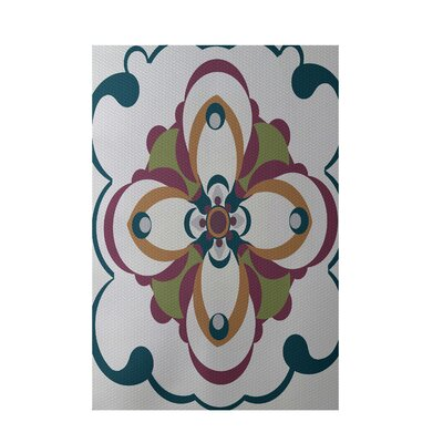 Floral Gray Indoor/Outdoor Area Rug Rug Size: 5 x 7
