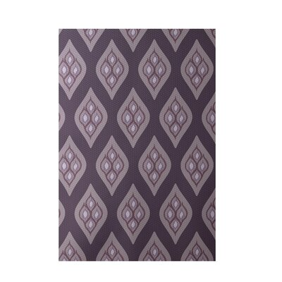 Floral Purple Indoor/Outdoor Area Rug Rug Size: 3 x 5