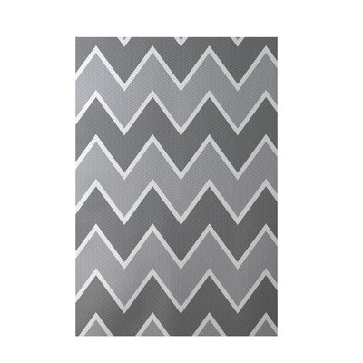 Chevron Gray Indoor/Outdoor Area Rug Rug Size: Rectangle 2 x 3