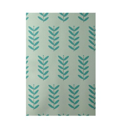 Floral Green Indoor/Outdoor Area Rug Rug Size: Rectangle 2' x 3'