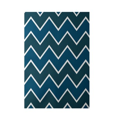 Chevron Teal Indoor/Outdoor Area Rug Rug Size: 5 x 7