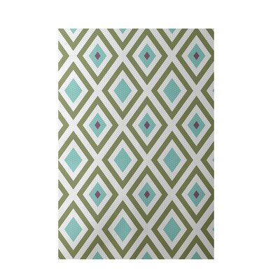 Geometric Aqua Indoor/Outdoor Area Rug Rug Size: Rectangle 3 x 5