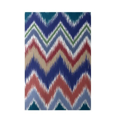Chevron Brown Indoor/Outdoor Area Rug Rug Size: 5 x 7