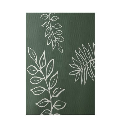 Floral Green Indoor/Outdoor Area Rug Rug Size: 5 x 7