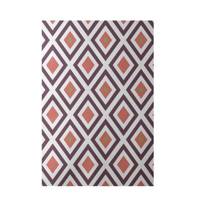 Geometric Coral Indoor/Outdoor Area Rug Rug Size: 5 x 7