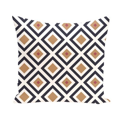 Diamond Mayhem Geometric Print Outdoor Pillow Color: Caramel, Size: 16 H x 16 W x 1 D