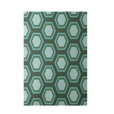 Geometric Green Indoor/Outdoor Area Rug Rug Size: 2 x 3