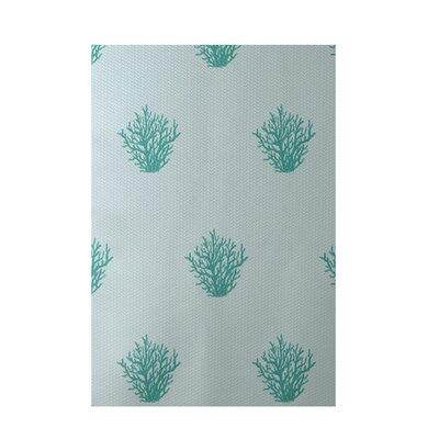 Coastal Soft Aqua Indoor/Outdoor Area Rug Rug Size: 5 x 7