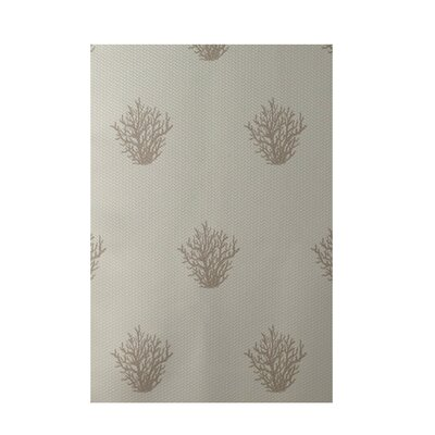 Coastal Taupe Indoor/Outdoor Area Rug Rug Size: 5 x 7