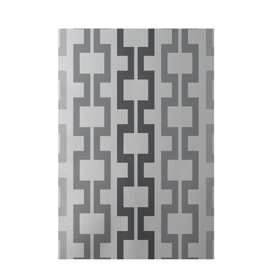 Geometric Light Gray Indoor/Outdoor Area Rug Rug Size: 5 x 7
