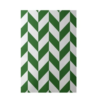 Geometric Green Indoor/Outdoor Area Rug Rug Size: Rectangle 2 x 3