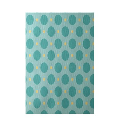Geometric Light Blue Indoor/Outdoor Area Rug Rug Size: 4 x 6