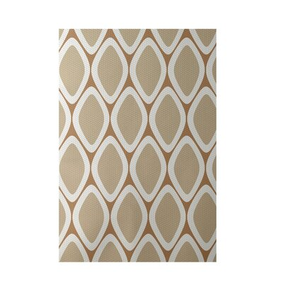 Geometric Brown Indoor/Outdoor Area Rug Rug Size: Rectangle 2 x 3