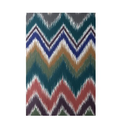 Chevron Teal Indoor/Outdoor Area Rug Rug Size: Rectangle 2 x 3