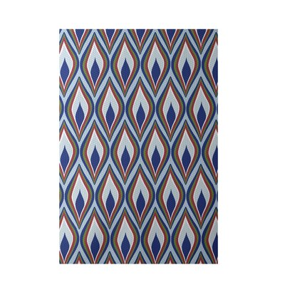 Royal Blue Indoor/Outdoor Area Rug Rug Size: 5 x 7