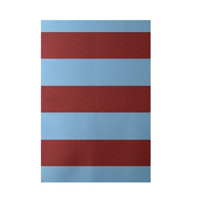 Stripe Red Indoor/Outdoor Area Rug Rug Size: 3 x 5