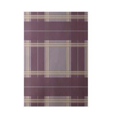 Geometric Purple Indoor/Outdoor Area Rug Rug Size: Rectangle 2' x 3'