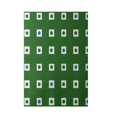 Geometric Green Indoor/Outdoor Area Rug Rug Size: 4 x 6