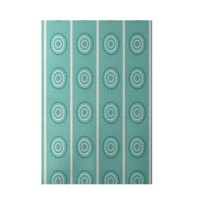 Aqua Indoor/Outdoor Area Rug Rug Size: 2 x 3