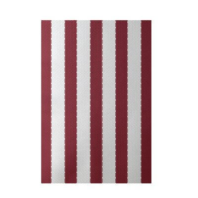 Stripe Orange Indoor/Outdoor Area Rug Rug Size: 4' x 6'