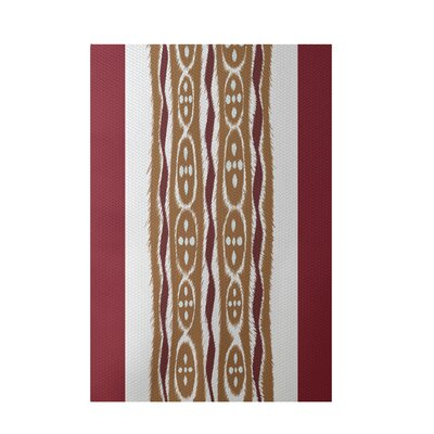 Stripe Rust Indoor/Outdoor Area Rug Rug Size: Rectangle 3 x 5