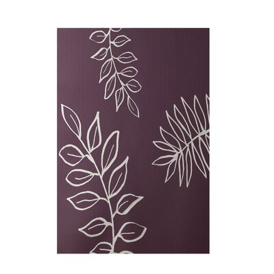 Floral Purple Indoor/Outdoor Area Rug Rug Size: 5 x 7