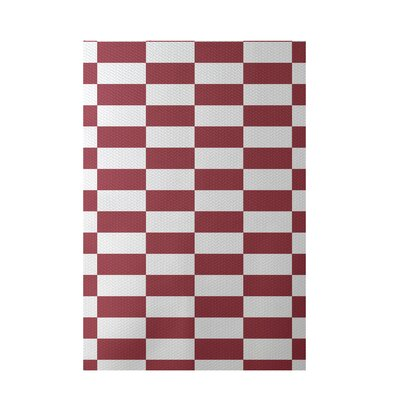 Plaid Rust Indoor/Outdoor Area Rug Rug Size: 3 x 5