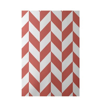 Geometric Coral Indoor/Outdoor Area Rug Rug Size: 4 x 6