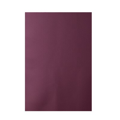 Solid Purple Indoor/Outdoor Area Rug Rug Size: 5 x 7