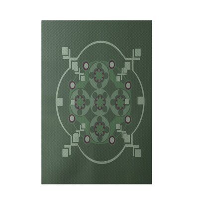 Green Indoor/Outdoor Area Rug Rug Size: 2 x 3