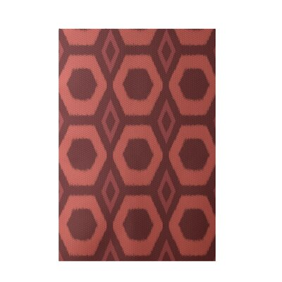 Geometric Rust Indoor/Outdoor Area Rug Rug Size: 3 x 5