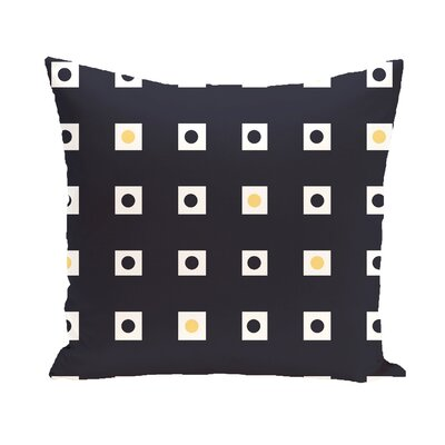 Hip To Be Square Geometric Print Outdoor Pillow Color: Bewitching, Size: 16 H x 16 W x 1 D