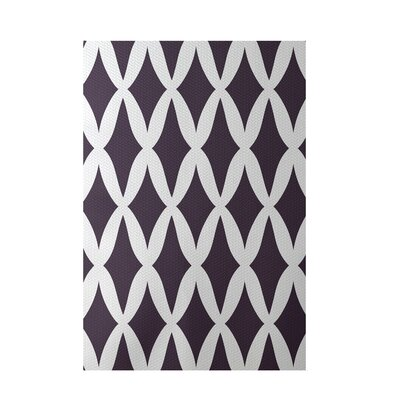 Geometric Purple Indoor/Outdoor Area Rug Rug Size: 2' x 3'