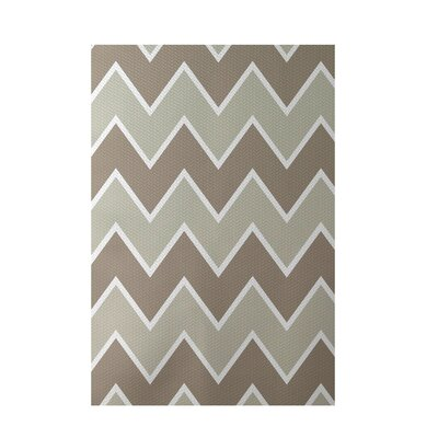 Chevron Beige Indoor/Outdoor Area Rug Rug Size: 5 x 7