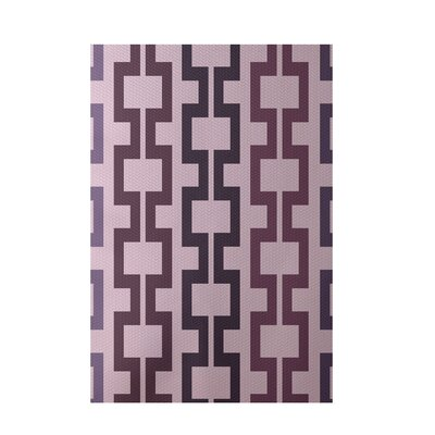 Geometric Pink Indoor/Outdoor Area Rug Rug Size: 5 x 7
