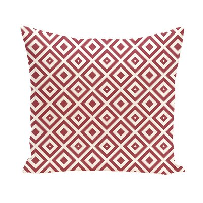 Subline Geometric Throw Pillow Size: 16 H x 16 W, Color: Navy Blue / Off White