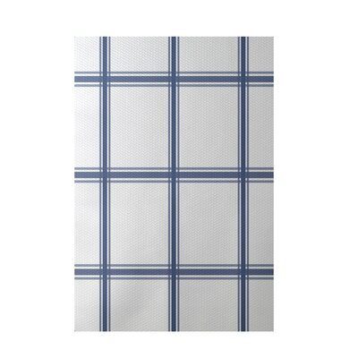 Geometric Blue Indoor/Outdoor Area Rug Rug Size: 3' x 5'