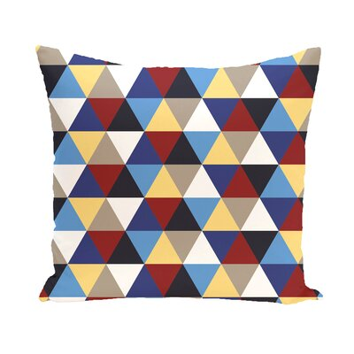 Subline Geometric Throw Pillow Size: 16 H x 16 W, Color: Taupe / Blue