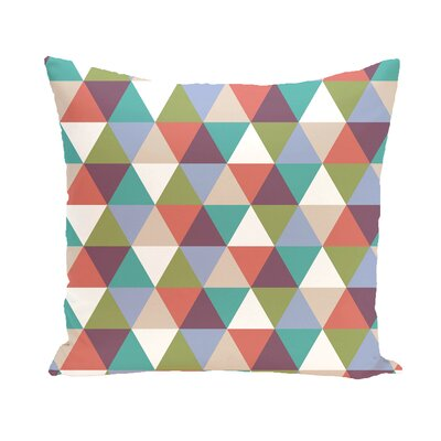 Subline Geometric Throw Pillow Size: 16 H x 16 W, Color: Green / Red