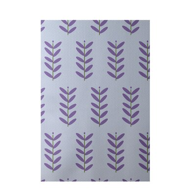 Floral Purple Indoor/Outdoor Area Rug Rug Size: Rectangle 2 x 3