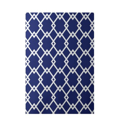 Geometric Royal Blue Indoor/Outdoor Area Rug Rug Size: Rectangle 3 x 5